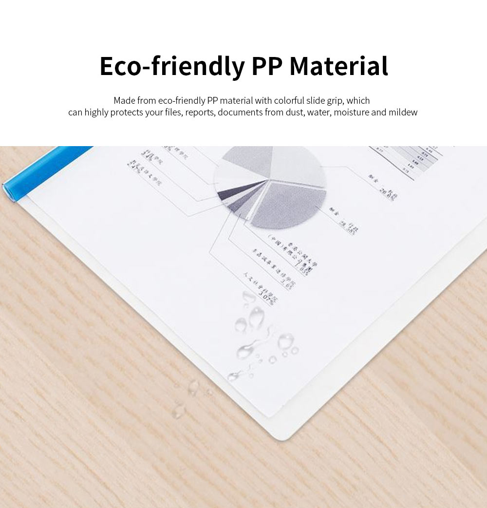 Slide Grip Report Cover for Students, Office Workers, Teachers, Thicken Slide Grip File Folder, 5PCS Random Colors Documents Folder 2