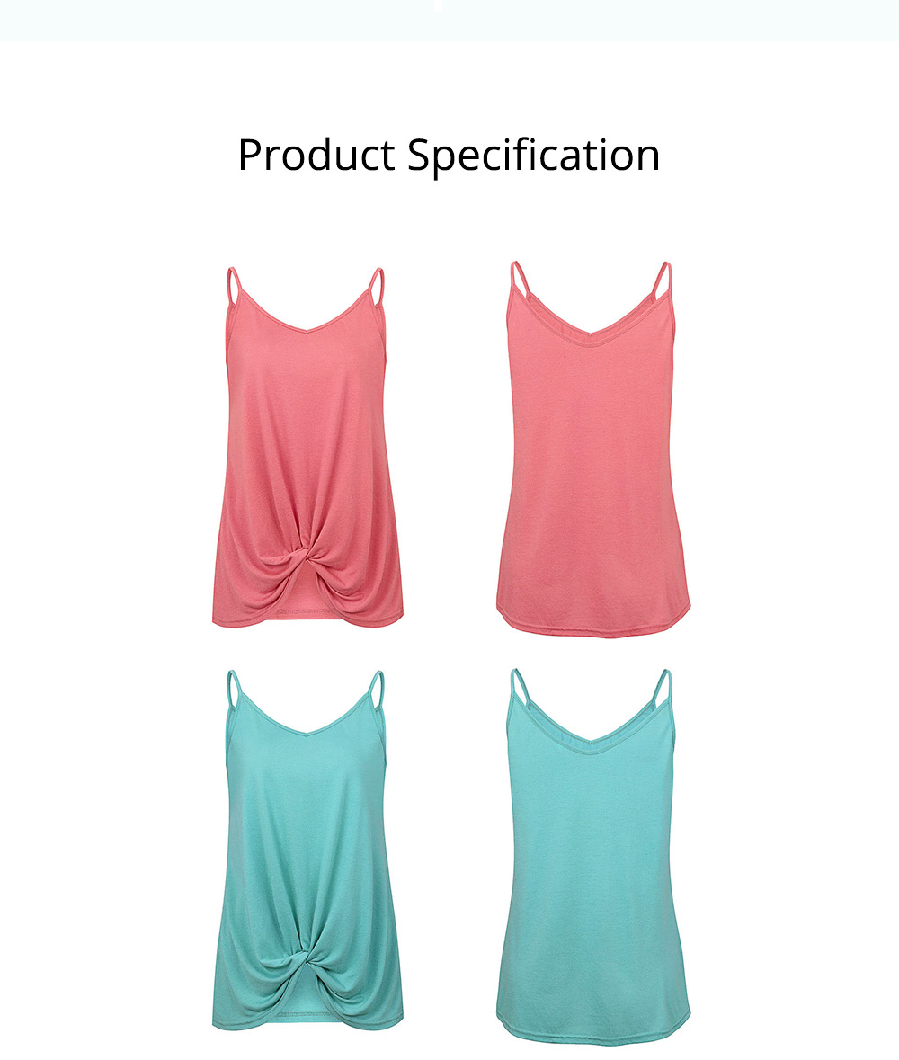 Cross-border Sun-top for Women 2019 Summer, V-Neck Tying Knot Top Dress, Pure Color Vest for Women 6