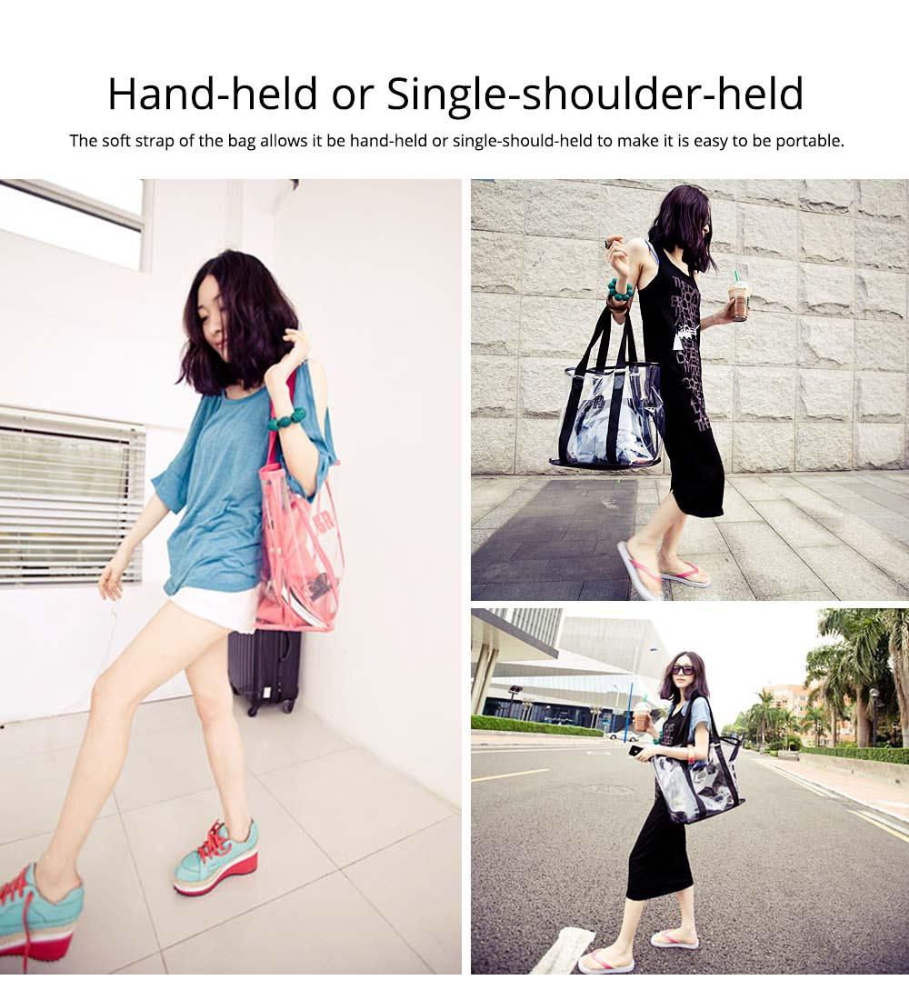 Western Style Tote Bag for Women 2019, Fashionable Exported Handbag Waterproof PVC Beach-bag, Women-dedicated Furla Transparent Crystal Jelly Bag 3