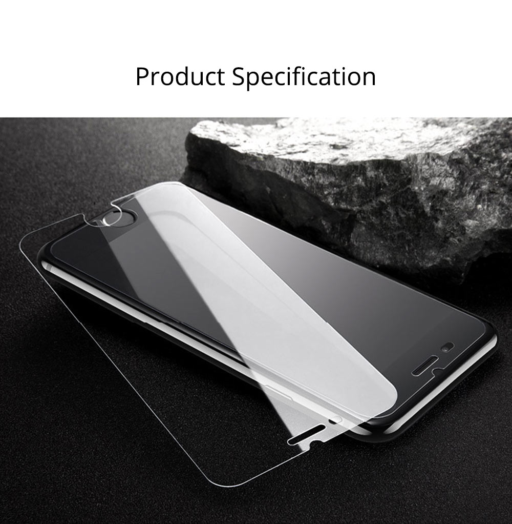 Tough Transparent Tempered Glass iPhone Screen Protector, Breaking-proof Scratching-proof Protective Film for iPhone 5 5S SE 6S Plus 7 8 X 7