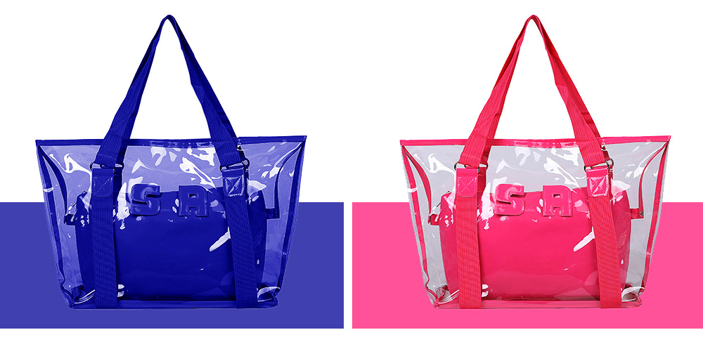 Western Style Tote Bag for Women 2019, Fashionable Exported Handbag Waterproof PVC Beach-bag, Women-dedicated Furla Transparent Crystal Jelly Bag 7
