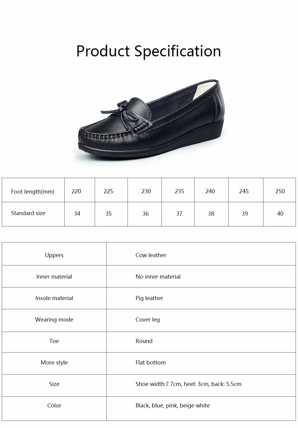 Sandal Leather PU Rubber Material, Flat-heeled Abrasion-resistant Foot Steady Adjustable Shallow Shoes for Mommy Nurse 5