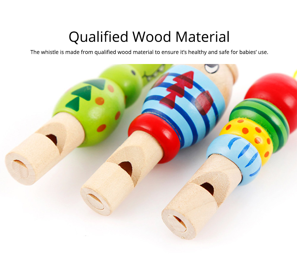 Wooden Animal-shape Whistle for Babies, Early Educational Toy for Children's Use, Musical Cultivation Tool Whistle with Bright Color 1