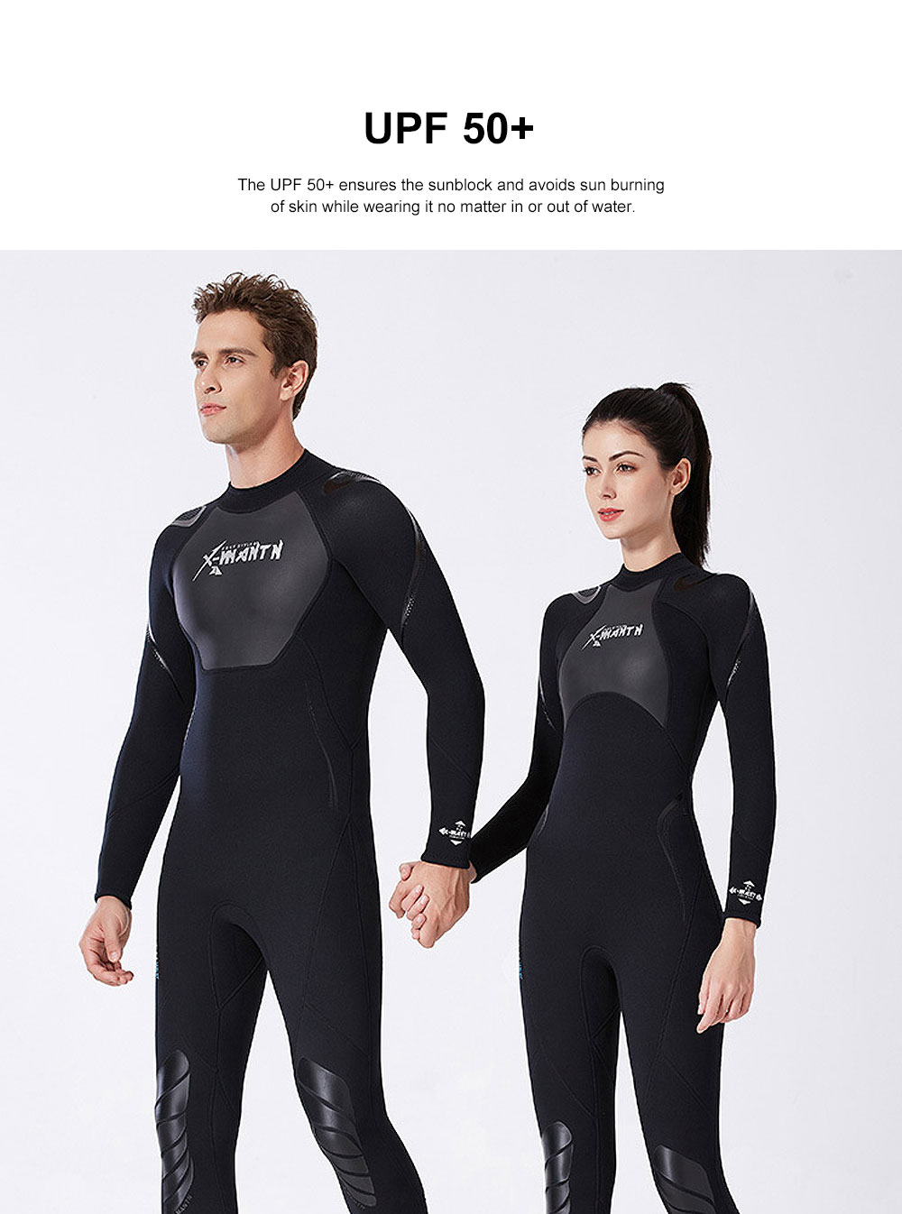 UV Protection Unisex Diving Dress, One-piece Warm-kept Diving Suit, Long Sleeve Swimwear for Snorkeling, Diving Winter Swimsuit 2019 2
