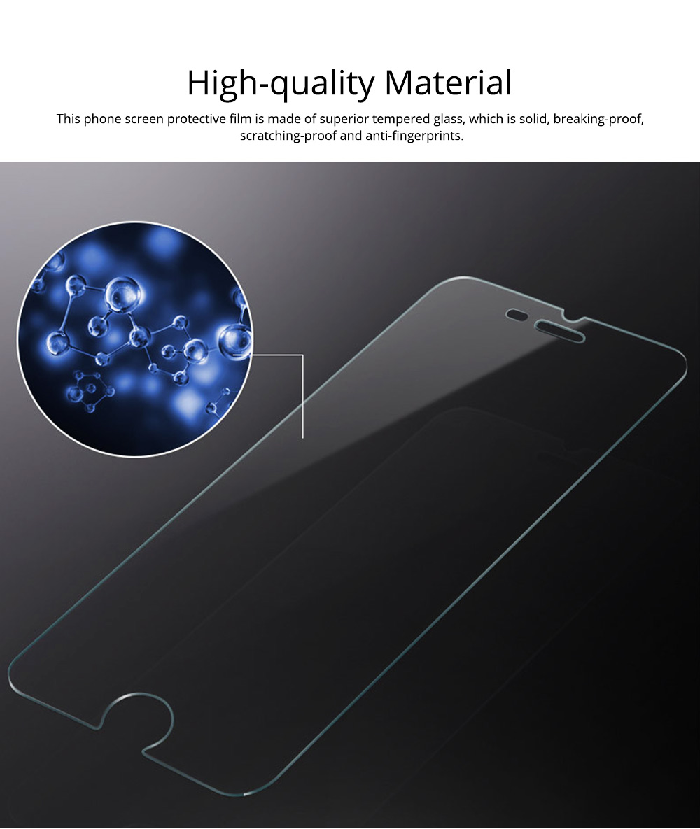 Tough Transparent Tempered Glass iPhone Screen Protector, Breaking-proof Scratching-proof Protective Film for iPhone 5 5S SE 6S Plus 7 8 X 1