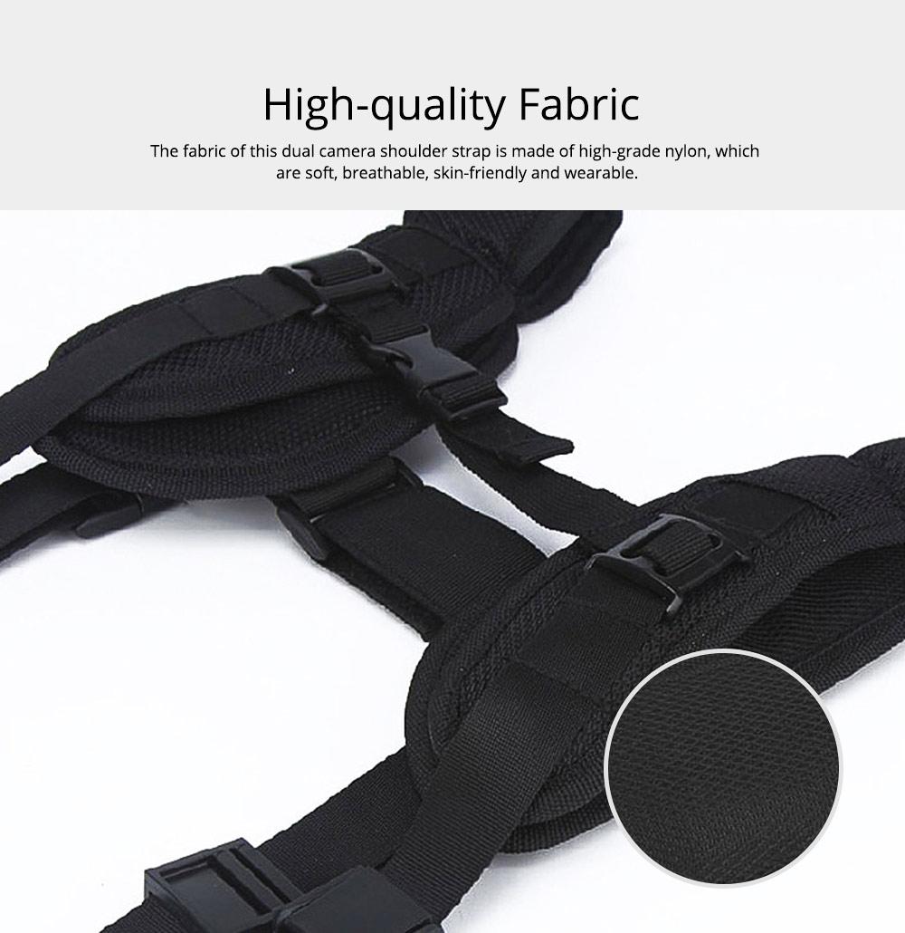Professional Digital Camera Double Shoulder Straps, Comfortable Dual Shoulder Belt for SLR DSLR Camera Extreme Sports 1