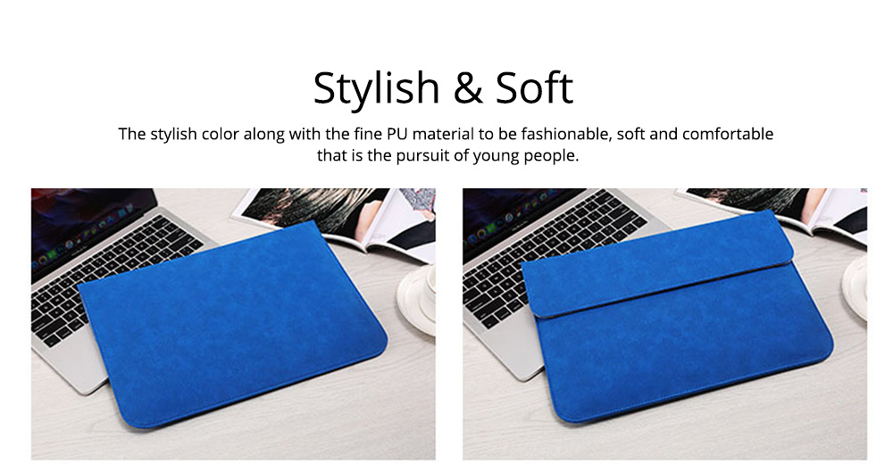 Thin Dull Polished Laptop Bag for Apple, Dell, Lenovo, MacBook Liner Package, Portable MacBook Dedicated Storage Bag with Clutch 10