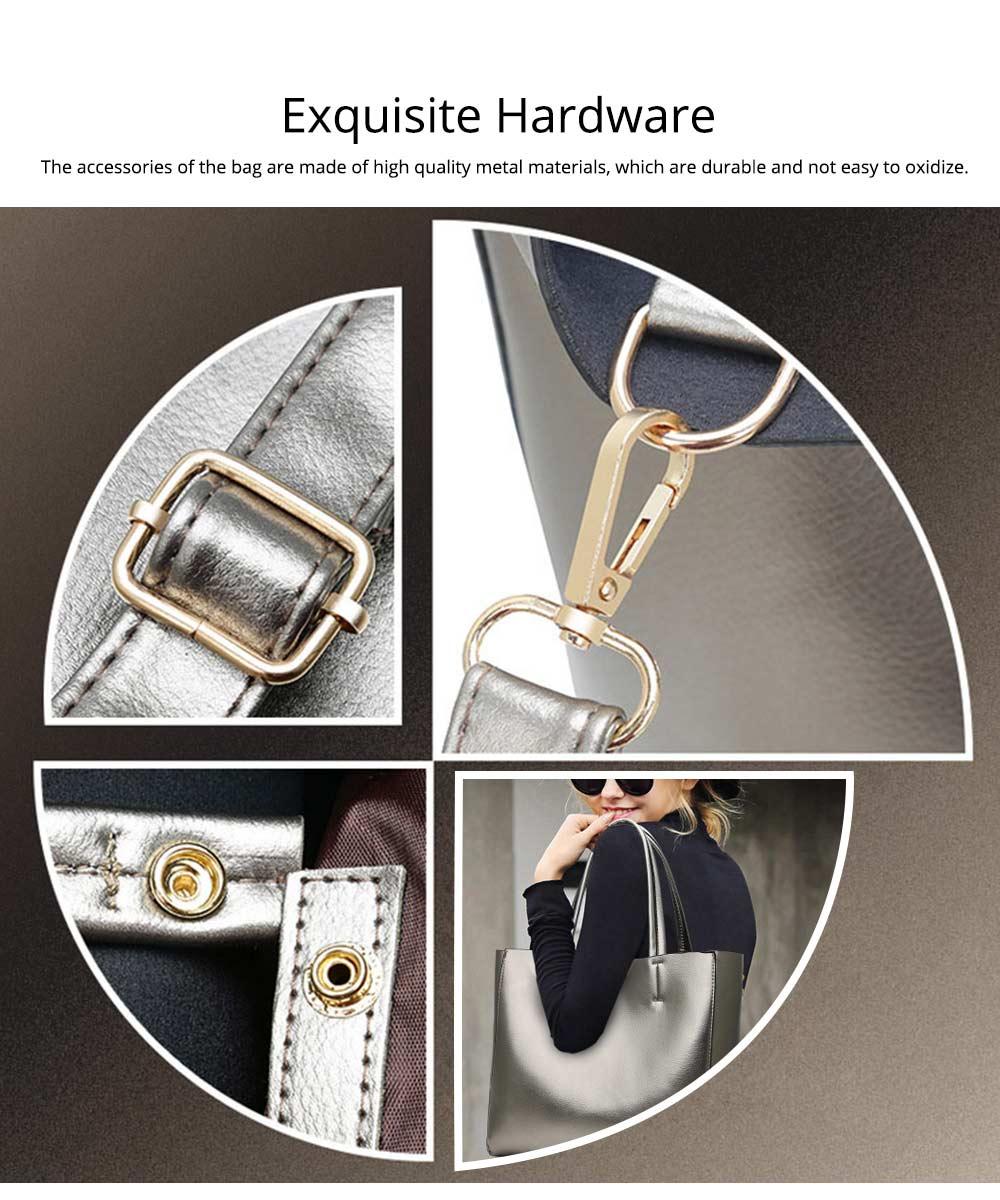 Elegant Tote Bag Shoulder Bag, Retro PU Leather Fashion Litchi Grain Large Size Clutch Bags, 2019 Fashion Handbag with Purse 4