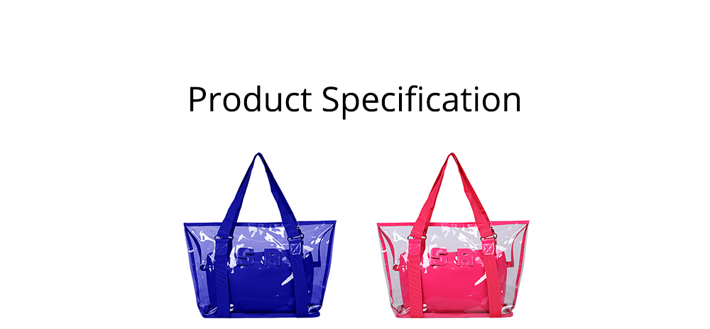 Western Style Tote Bag for Women 2019, Fashionable Exported Handbag Waterproof PVC Beach-bag, Women-dedicated Furla Transparent Crystal Jelly Bag 9