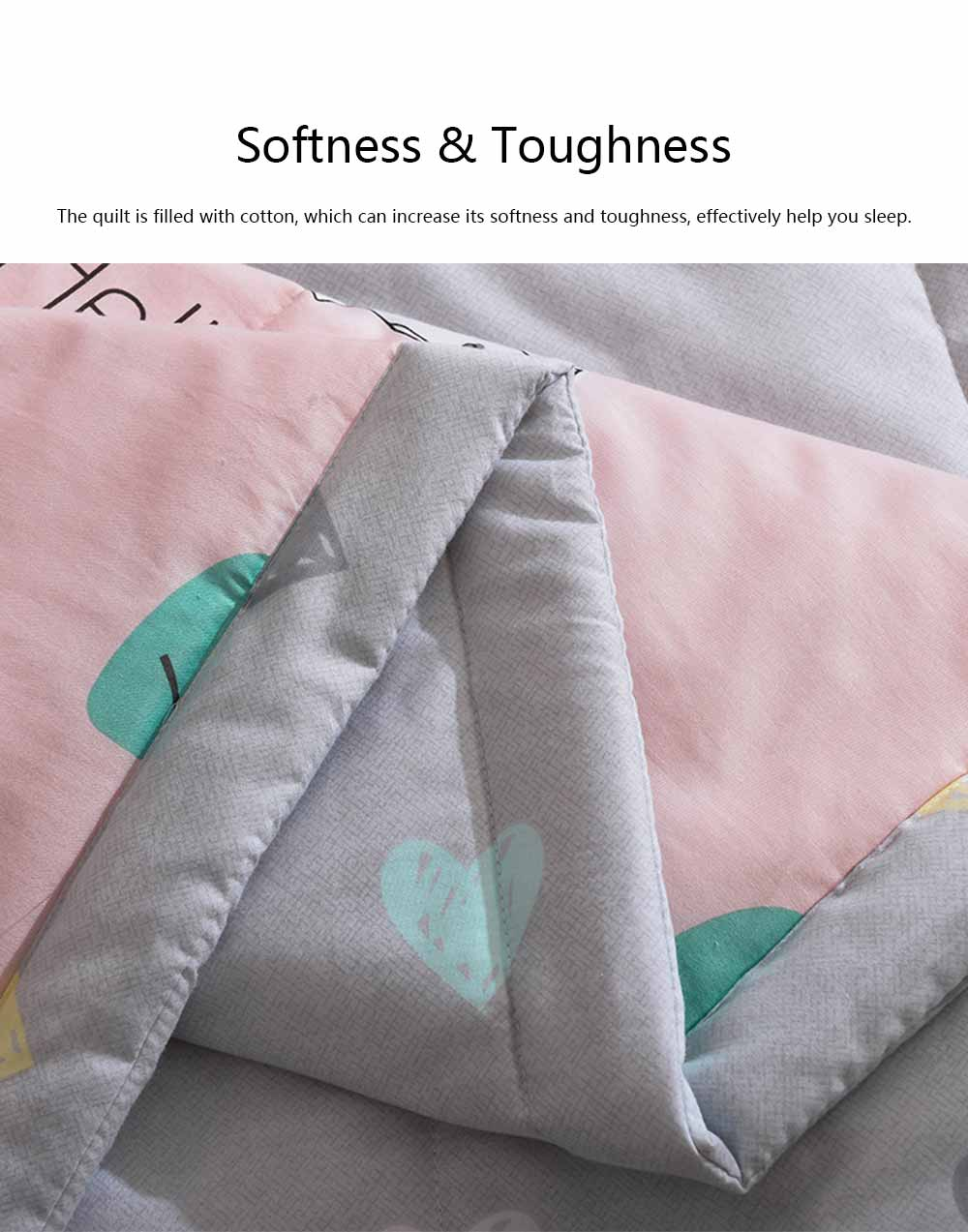 2019 Summer Quilt, Cotton Material Soft Environment Comforter Washing Machine Available, Softness Summer Refreshing Bedspreads 2