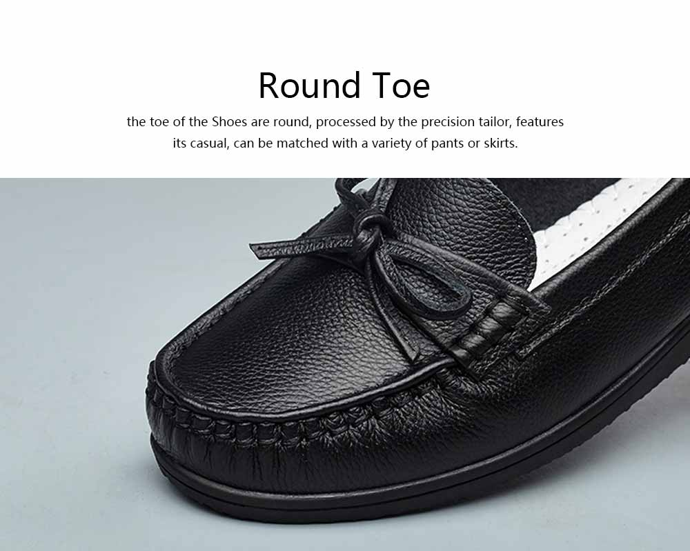 Sandal Leather PU Rubber Material, Flat-heeled Abrasion-resistant Foot Steady Adjustable Shallow Shoes for Mommy Nurse 2