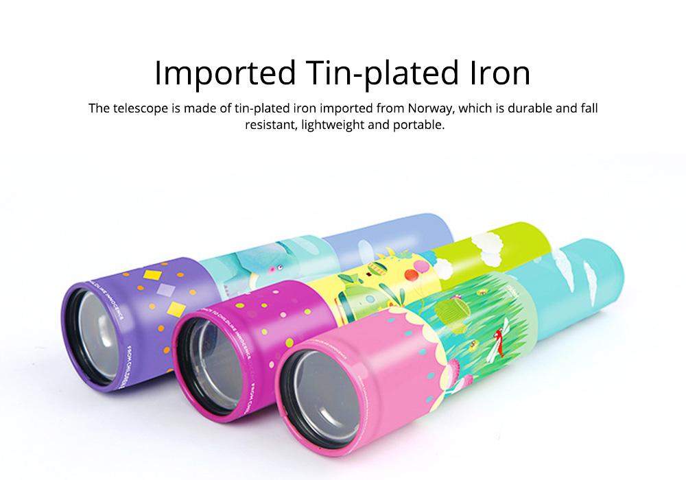 Explore Nature Children's Monocular Telescope, Iron Retractable Eyecare Toy, Adjustable Educational Science Toy 1