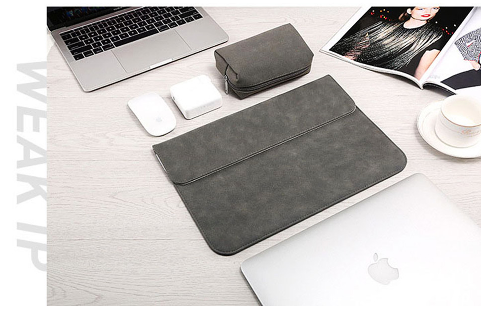 Thin Dull Polished Laptop Bag for Apple, Dell, Lenovo, MacBook Liner Package, Portable MacBook Dedicated Storage Bag with Clutch 3