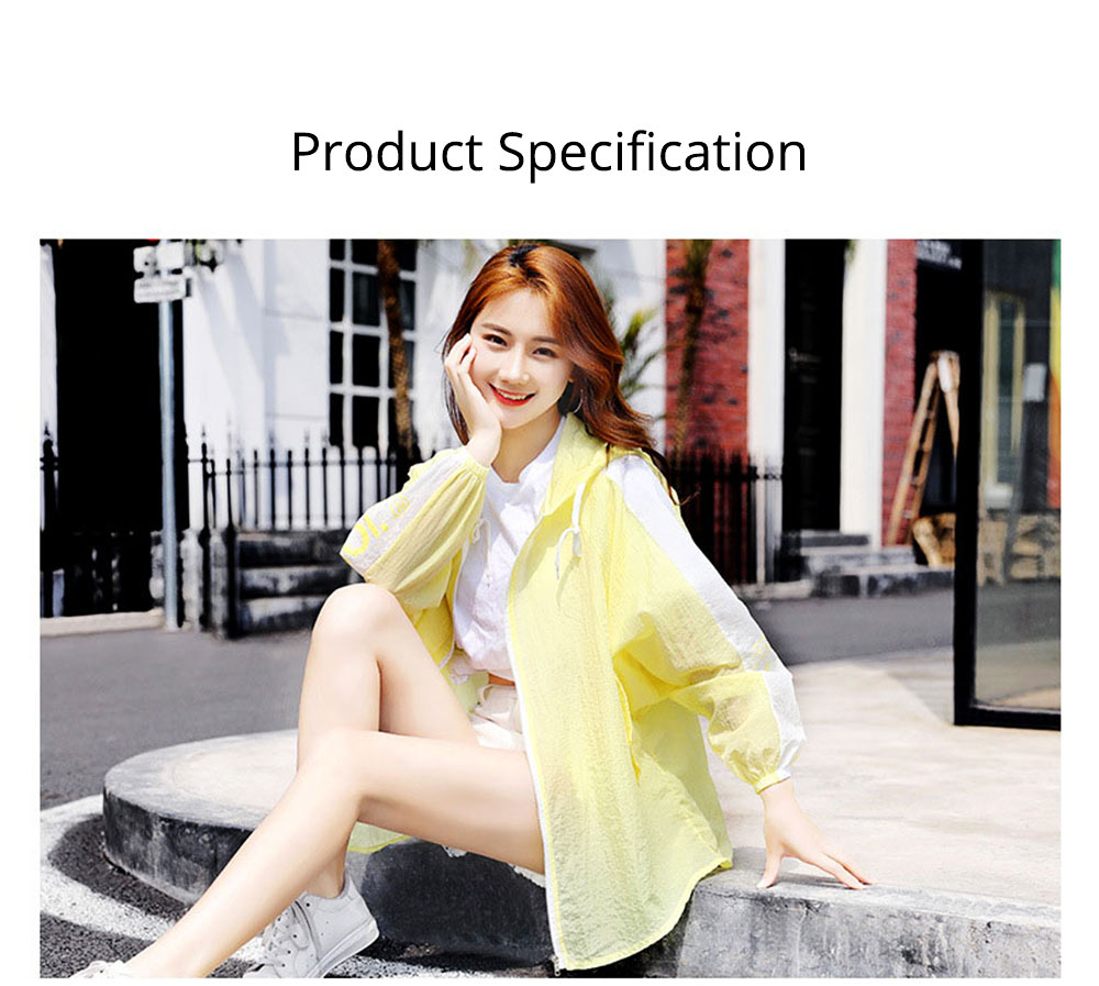Sun Protective Clothing for Outdoors 2019 Summer, Large Size Spring Dress Loose Joint UV Protective Coat, Thin Casual Hoody Guards for Women 12