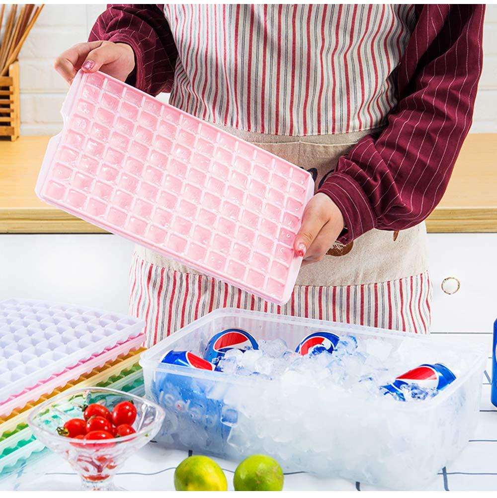 96 Grid Ice Lattice Mould with Cover, Sealed Crisper DIY Ice, Multiple Sub-box Ice Lattice Mold Ice-making Box 3