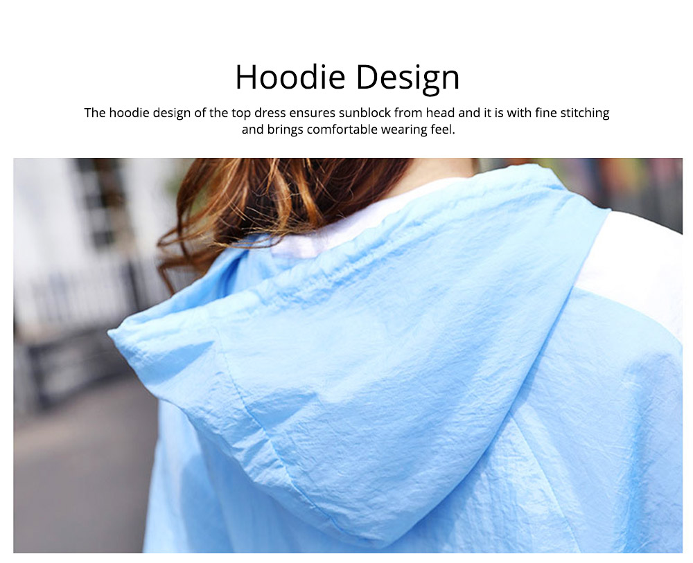 Sun Protective Clothing for Outdoors 2019 Summer, Large Size Spring Dress Loose Joint UV Protective Coat, Thin Casual Hoody Guards for Women 5