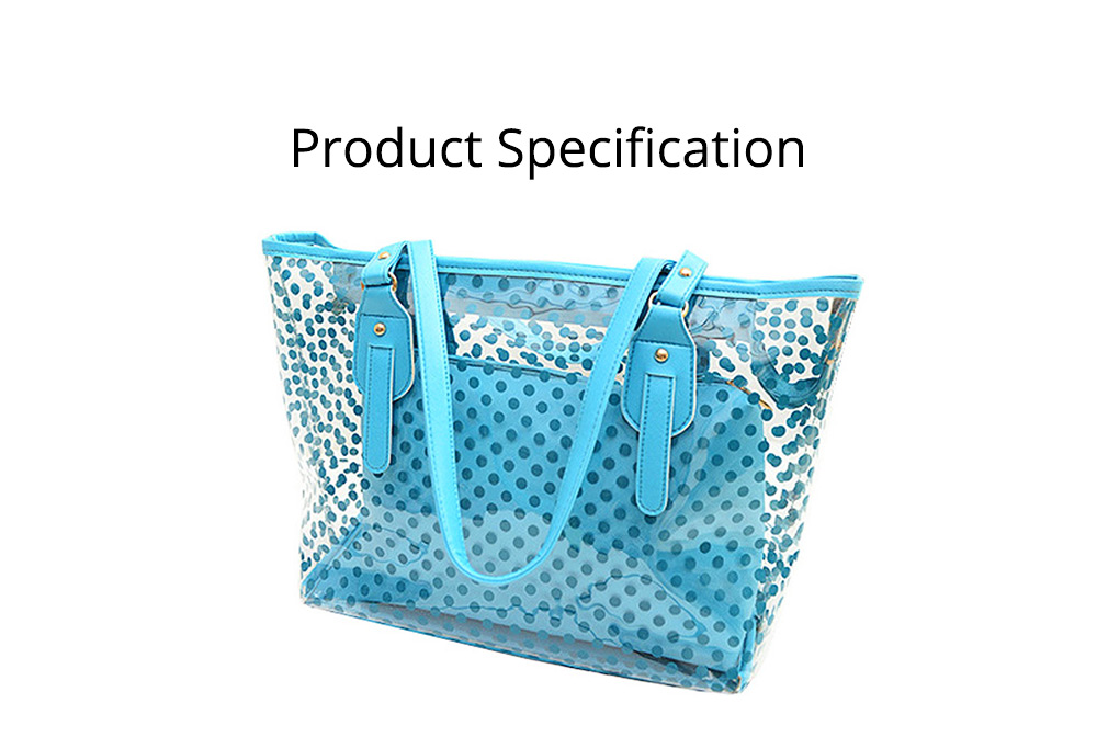 Fresh Color Tote Bag for Women Summer Use Jelly Handbag Wave Point Waterproof PVC Beach Used Crystal Single Shoulder Held Bag 9