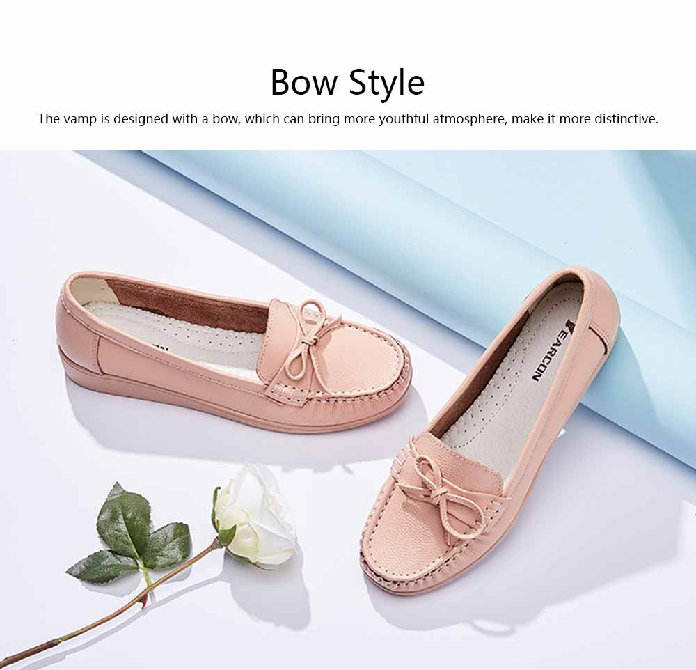 Sandal Leather PU Rubber Material, Flat-heeled Abrasion-resistant Foot Steady Adjustable Shallow Shoes for Mommy Nurse 1