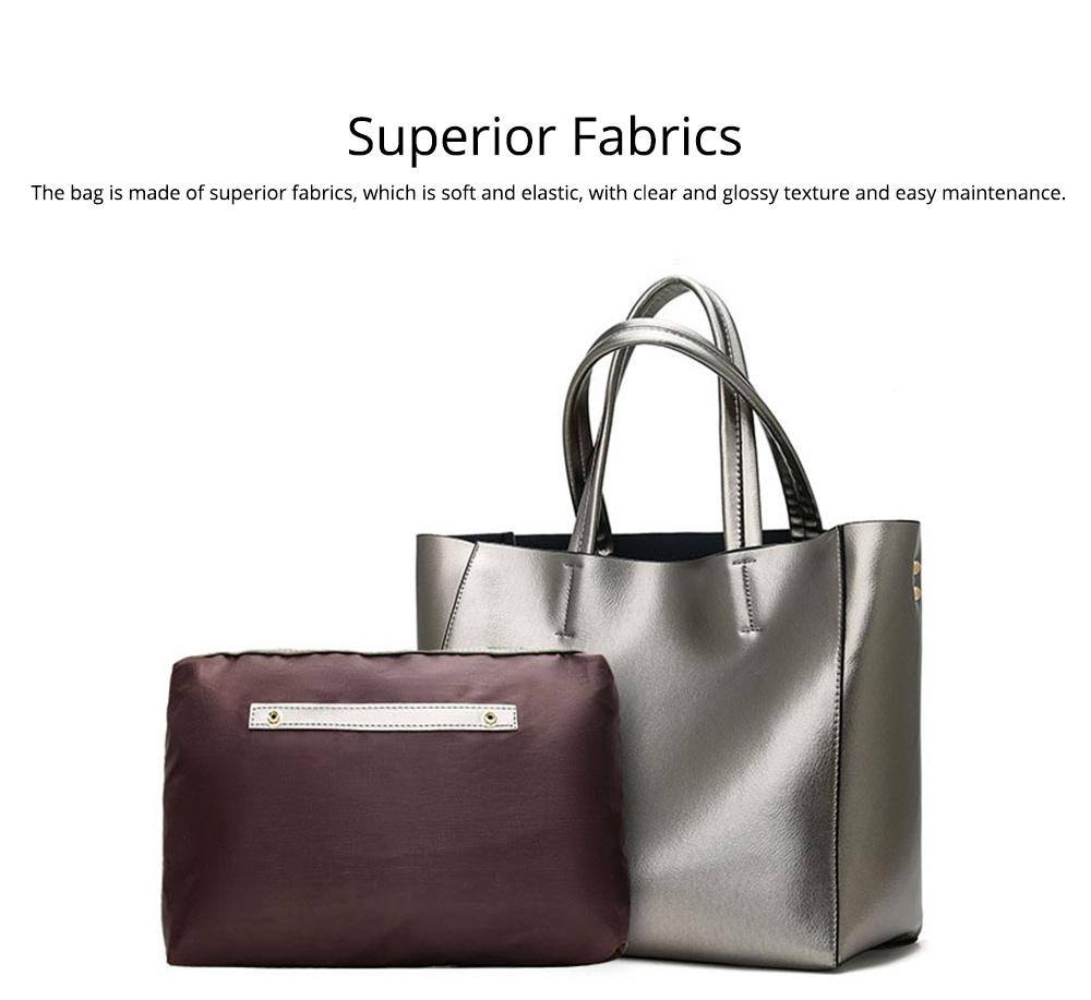 Elegant Tote Bag Shoulder Bag, Retro PU Leather Fashion Litchi Grain Large Size Clutch Bags, 2019 Fashion Handbag with Purse 1