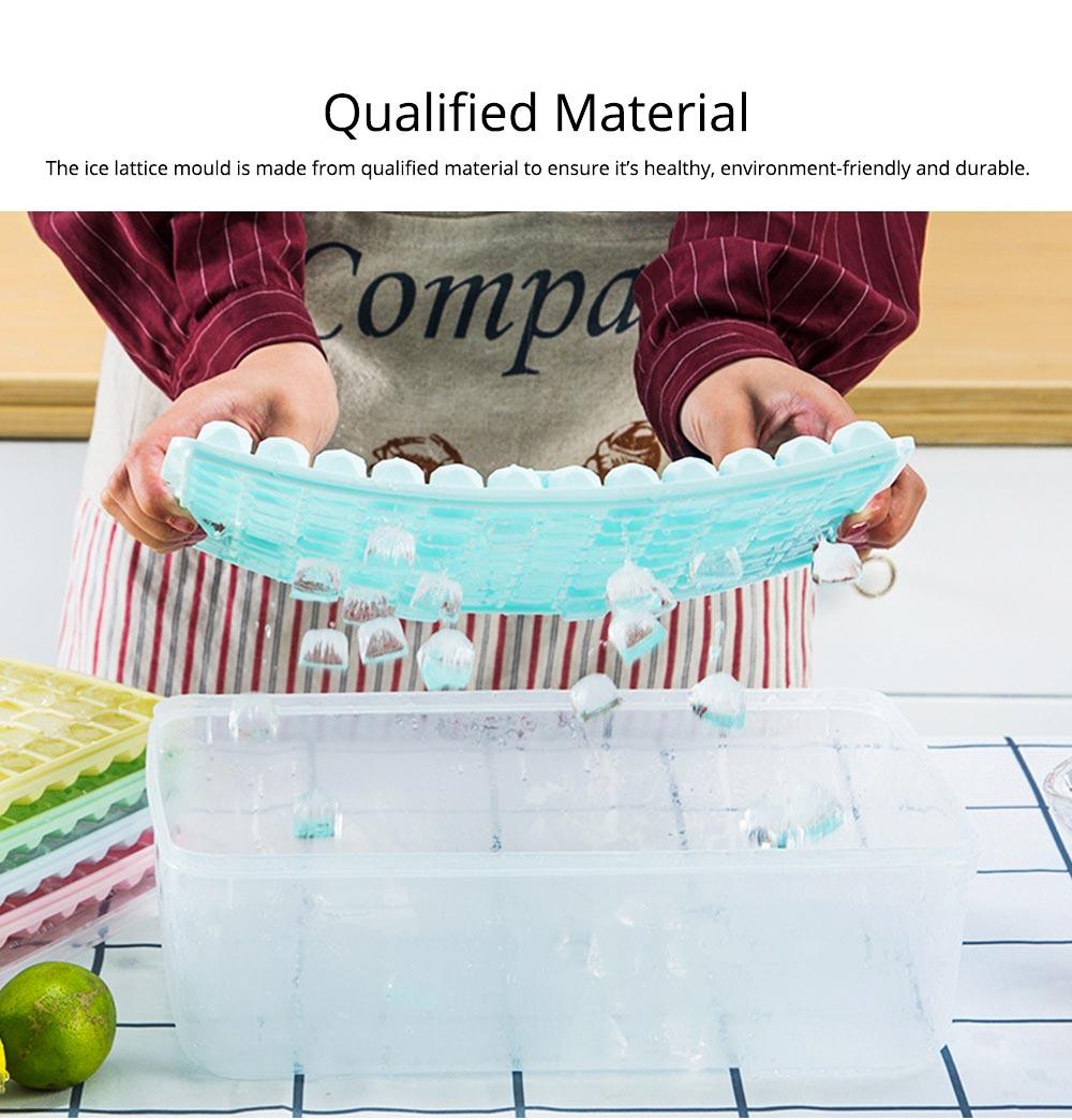 96 Grid Ice Lattice Mould with Cover, Sealed Crisper DIY Ice, Multiple Sub-box Ice Lattice Mold Ice-making Box 2