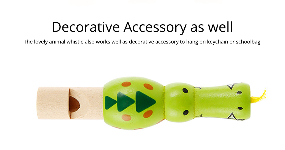 Wooden Animal-shape Whistle for Babies, Early Educational Toy for Children's Use, Musical Cultivation Tool Whistle with Bright Color 7