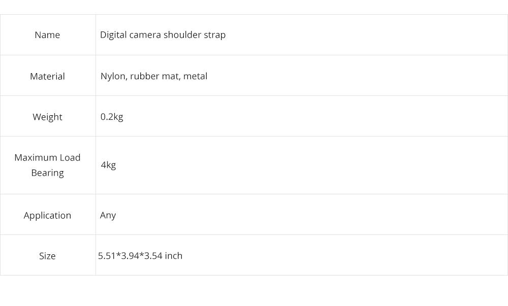 Minimalist Digital SLR Camera One Shoulder Strap, Professional Fix Single-lens Reflex Camera Shoulder Belt 8