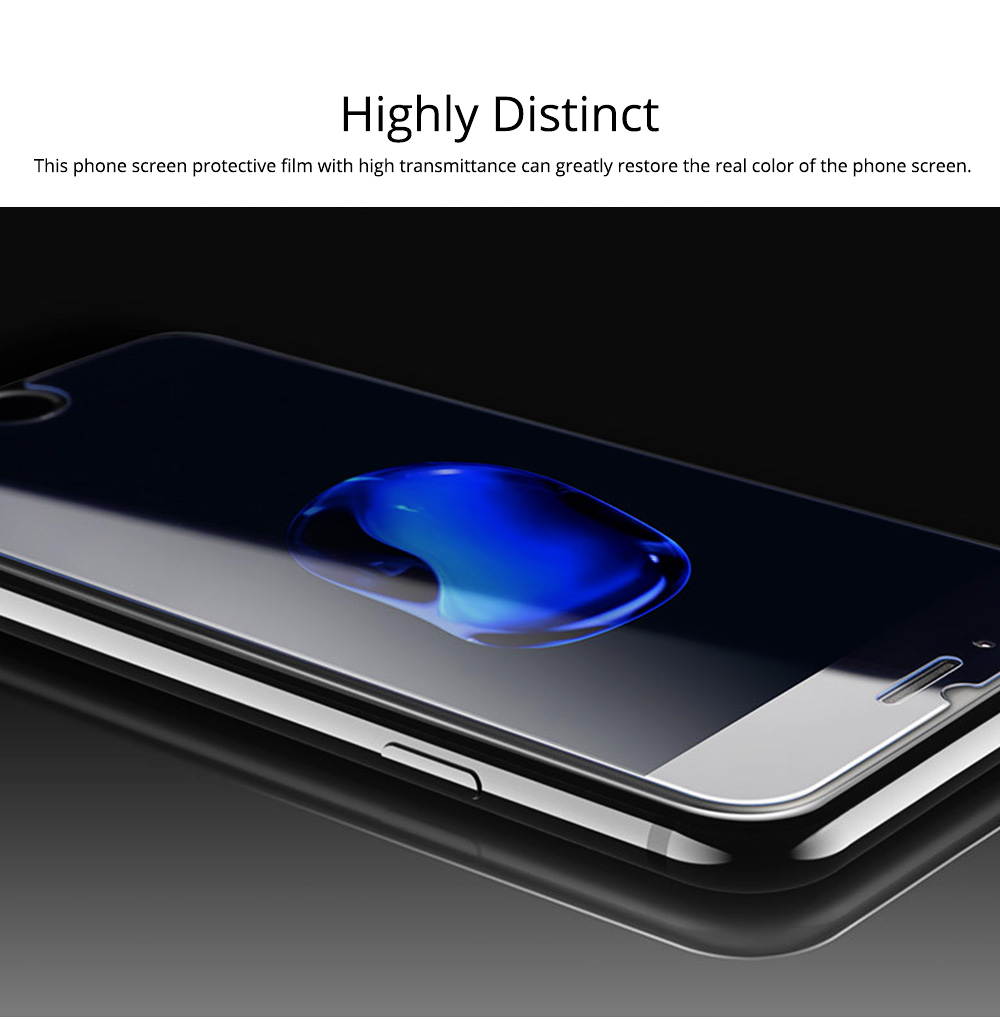 Tough Transparent Tempered Glass iPhone Screen Protector, Breaking-proof Scratching-proof Protective Film for iPhone 5 5S SE 6S Plus 7 8 X 4