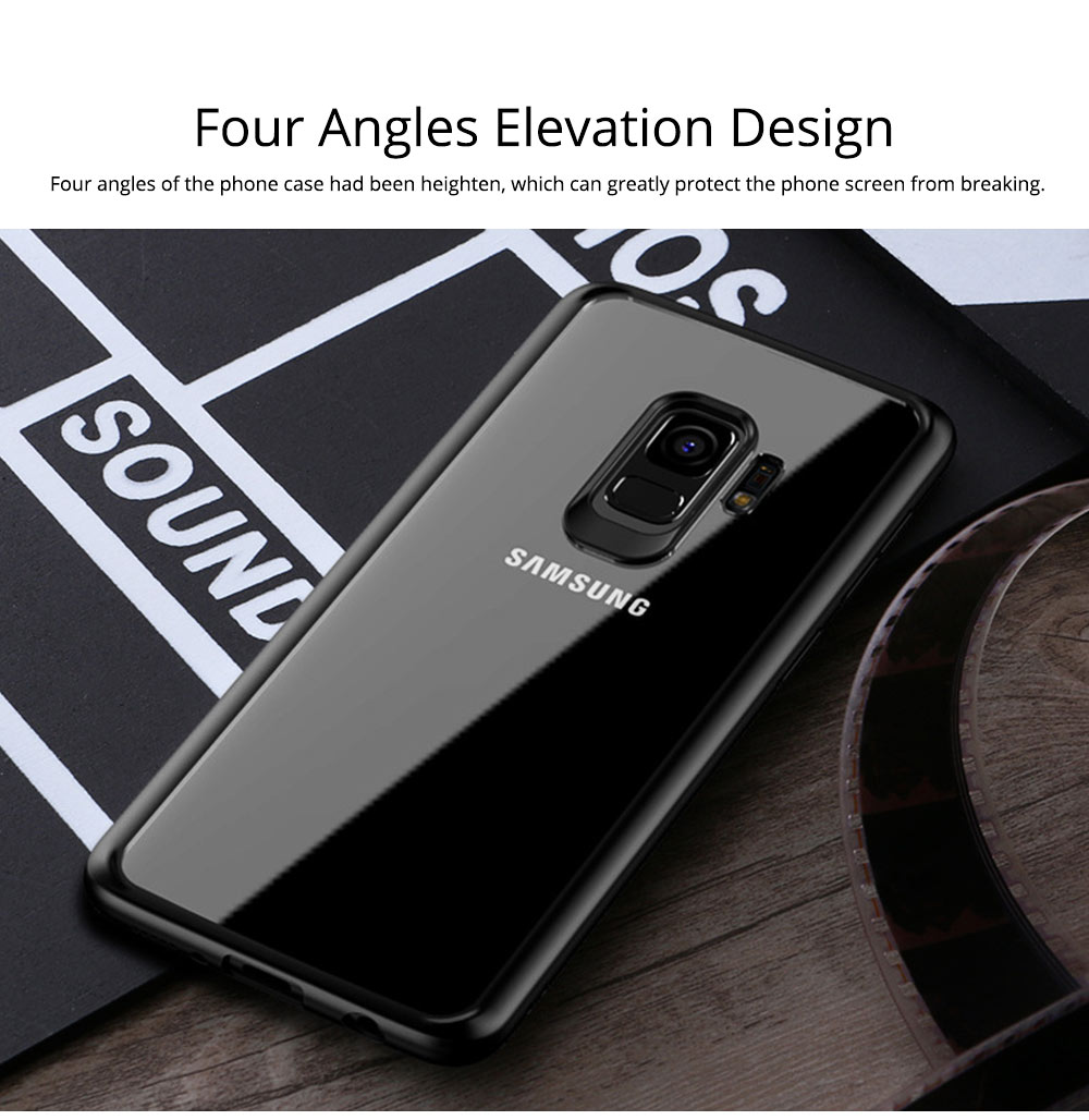 Compatible for Samsung S9 Plus Phone Full Protection Case Transparent, Minimalist Air Sac Design Breaking-proof All-sided Phone Back Cover for Samsung Galaxy S9 Plus 3
