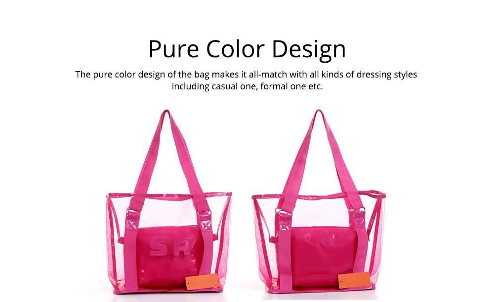 Western Style Tote Bag for Women 2019, Fashionable Exported Handbag Waterproof PVC Beach-bag, Women-dedicated Furla Transparent Crystal Jelly Bag 4