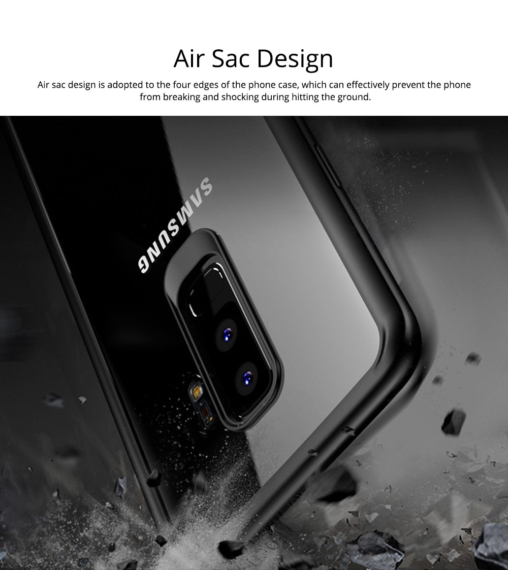 Compatible for Samsung S9 Plus Phone Full Protection Case Transparent, Minimalist Air Sac Design Breaking-proof All-sided Phone Back Cover for Samsung Galaxy S9 Plus 2