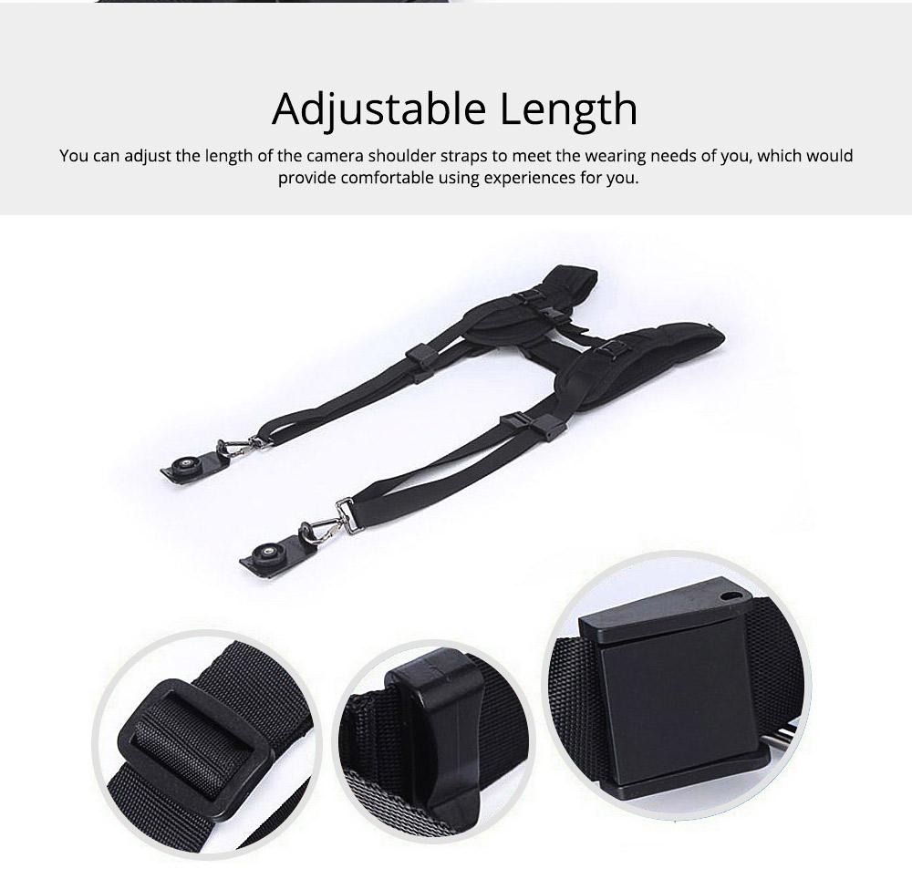 Professional Digital Camera Double Shoulder Straps, Comfortable Dual Shoulder Belt for SLR DSLR Camera Extreme Sports 2