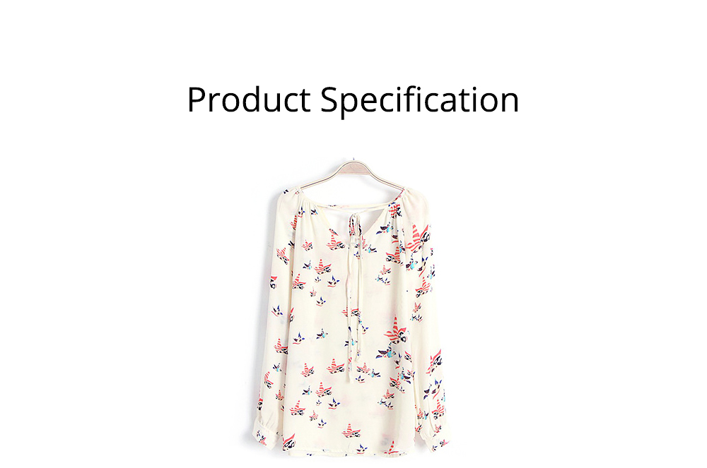 Women's V-neck Long-sleeve Chiffon Shirt, Ladies Shirt with Front Strap for Spring & Autumn, Hollow Back Shirt 6