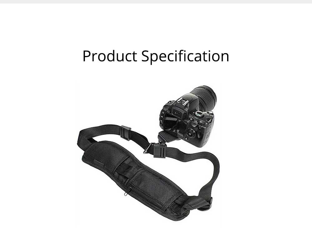 Minimalist Digital SLR Camera One Shoulder Strap, Professional Fix Single-lens Reflex Camera Shoulder Belt 7