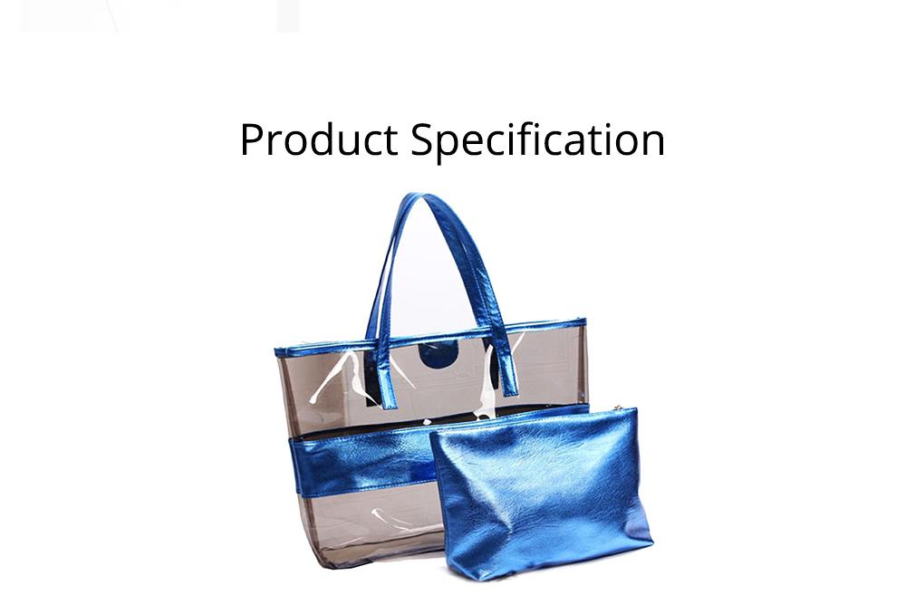 PVC Waterproof Transparent Bag for Women Summer Use, Crystal Tote Bag, Neon Color Jelly Single Shoulder Handbag 7