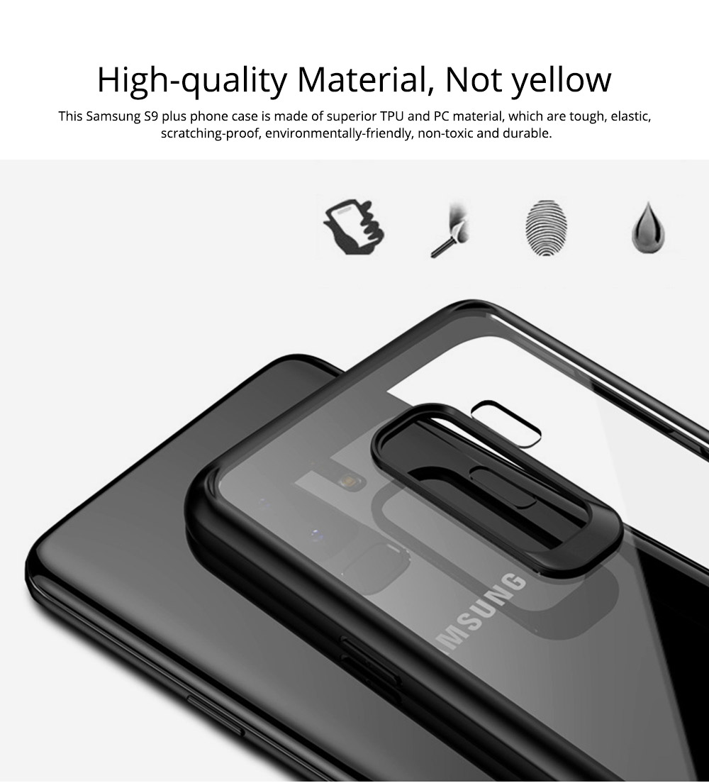 Compatible for Samsung S9 Plus Phone Full Protection Case Transparent, Minimalist Air Sac Design Breaking-proof All-sided Phone Back Cover for Samsung Galaxy S9 Plus 1