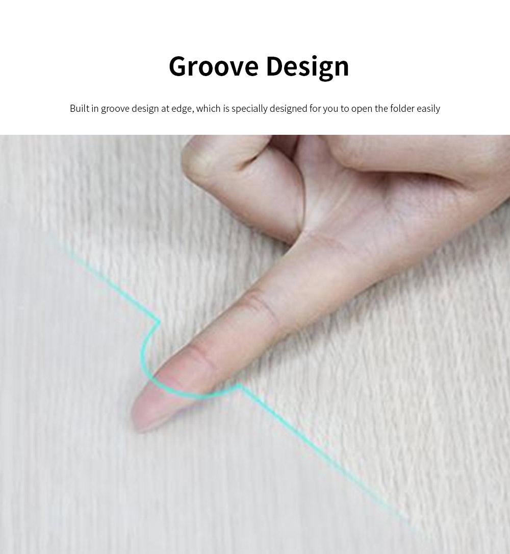 Slide Grip Report Cover for Students, Office Workers, Teachers, Thicken Slide Grip File Folder, 5PCS Random Colors Documents Folder 4