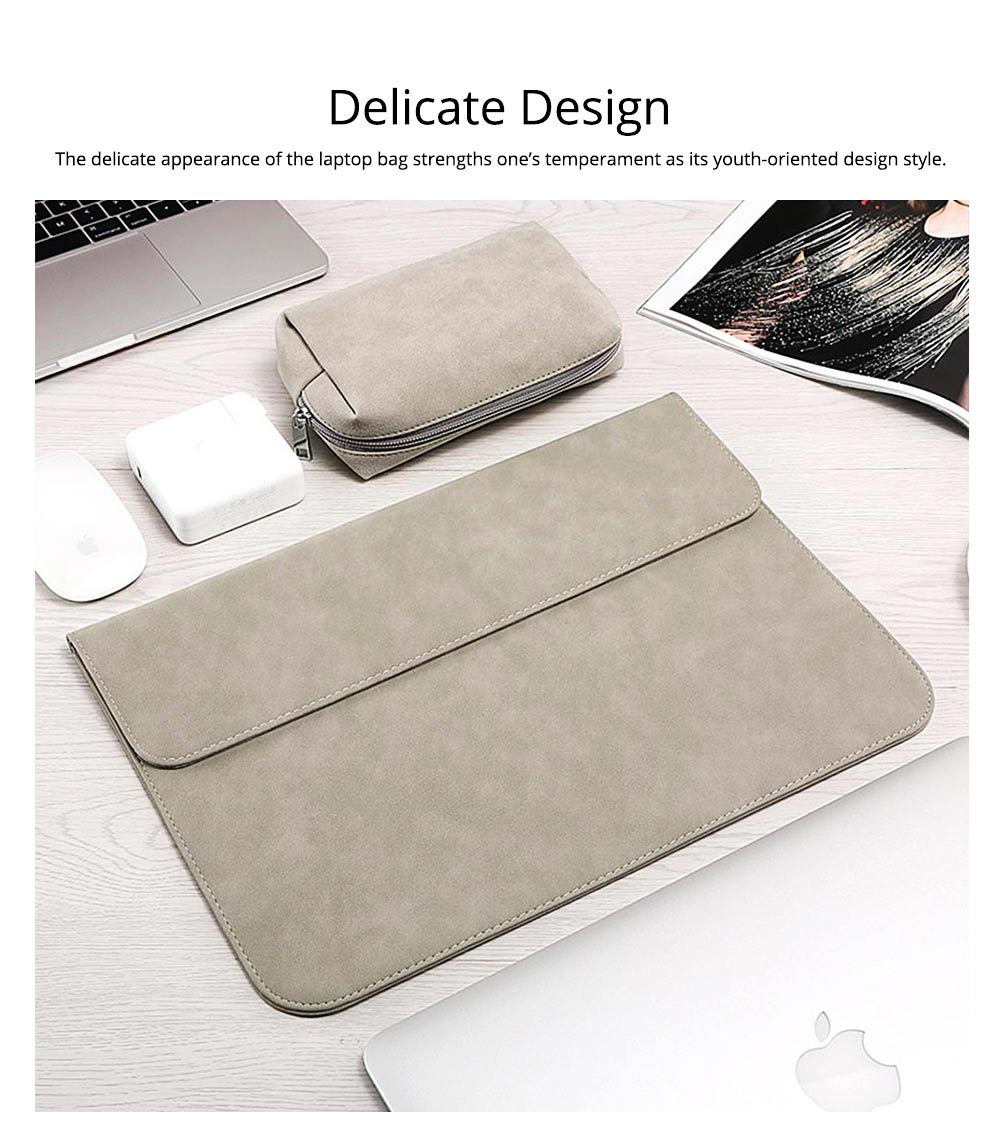 Thin Dull Polished Laptop Bag for Apple, Dell, Lenovo, MacBook Liner Package, Portable MacBook Dedicated Storage Bag with Clutch 7