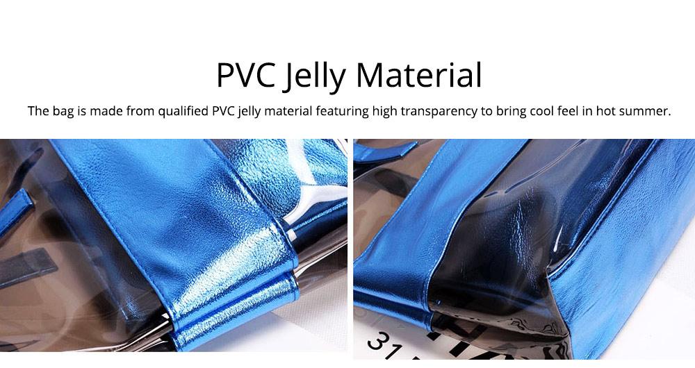 PVC Waterproof Transparent Bag for Women Summer Use, Crystal Tote Bag, Neon Color Jelly Single Shoulder Handbag 1