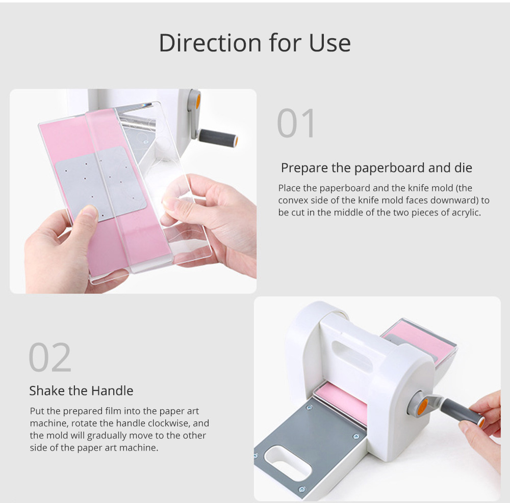Children Embossing Paper Cutter Toy, Kindergarten DIY Handmade Materials Pack Hand-operated Paper Art Machine 12