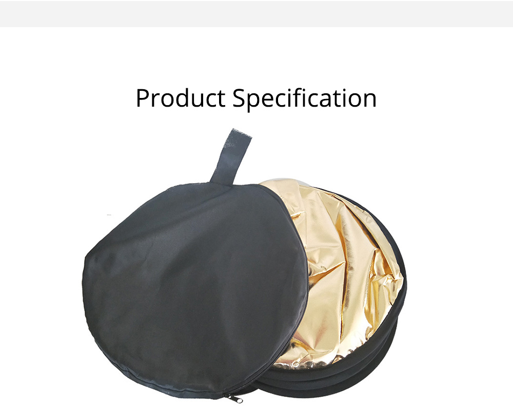 80cm Portable Foldable Silver Gold 2 in 1 Reflector, Collapsible Film Shooting Photography Disc Reflector 5