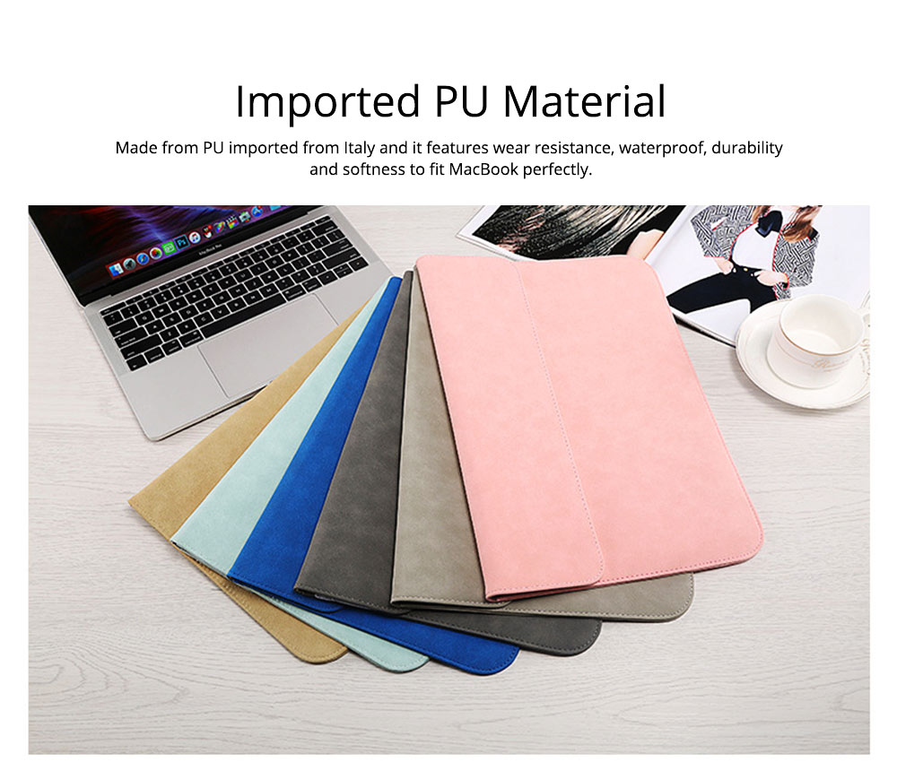 Thin Dull Polished Laptop Bag for Apple, Dell, Lenovo, MacBook Liner Package, Portable MacBook Dedicated Storage Bag with Clutch 1