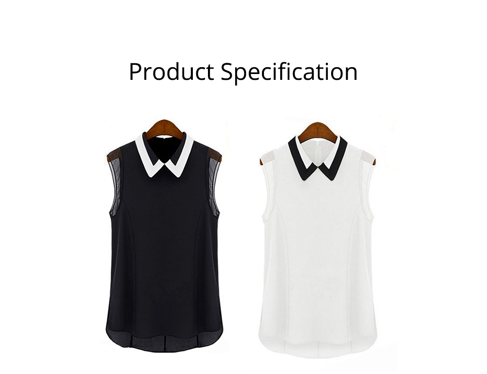Lady's Skin-friendly Sleeveless Chiffon Shirt, Women Heart Neck Leisure Chiffon Blouse for Summer Cool Georgette Blouse 5