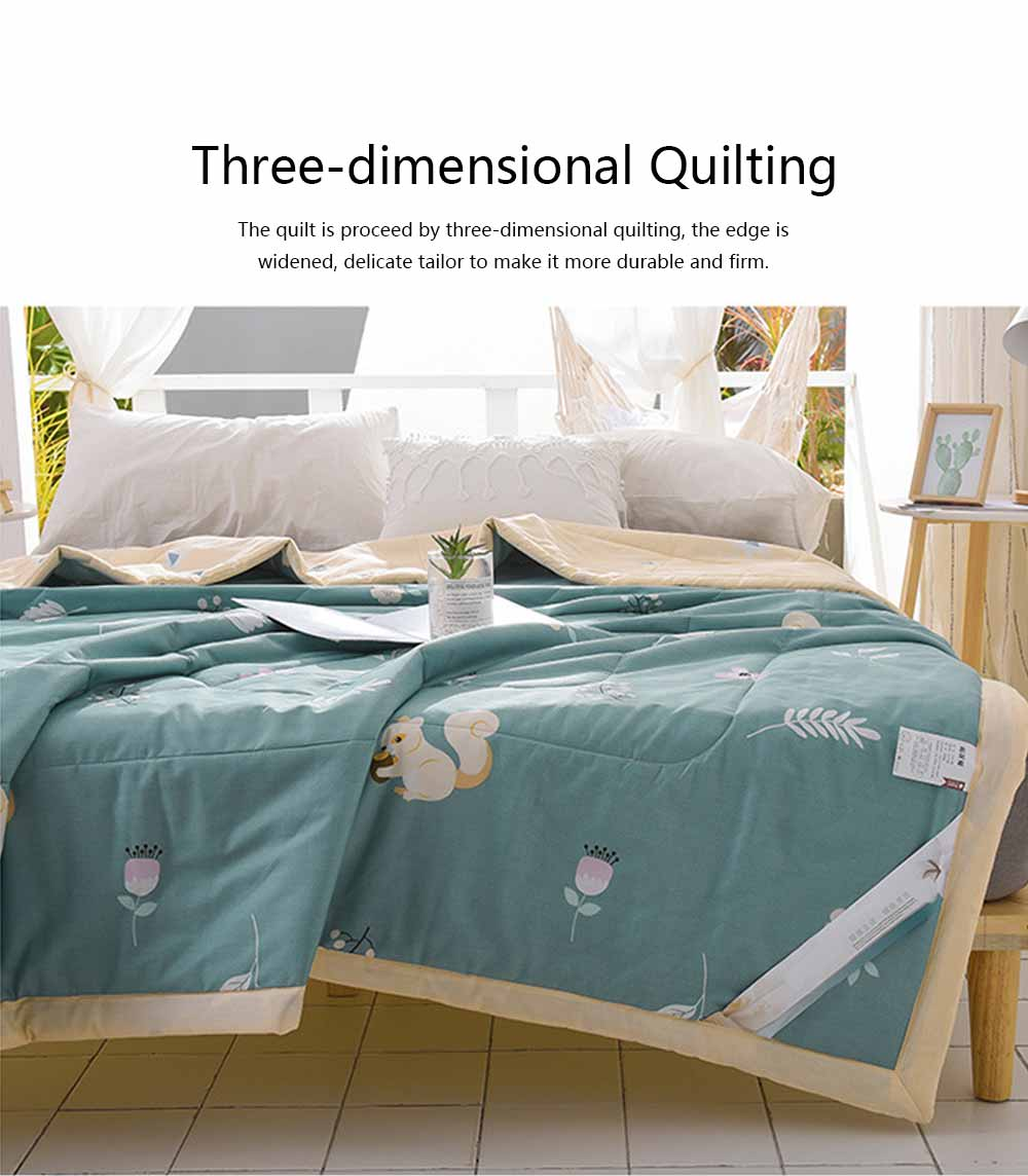 2019 Summer Quilt, Cotton Material Soft Environment Comforter Washing Machine Available, Softness Summer Refreshing Bedspreads 5
