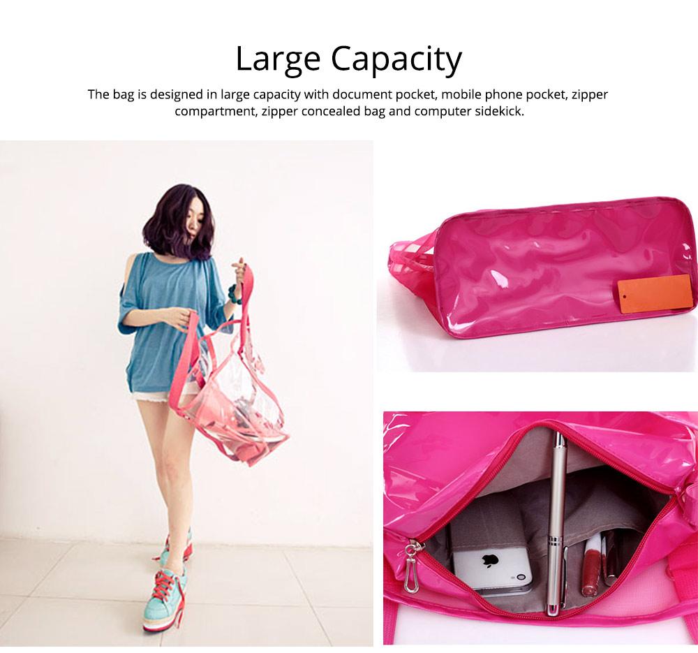 Western Style Tote Bag for Women 2019, Fashionable Exported Handbag Waterproof PVC Beach-bag, Women-dedicated Furla Transparent Crystal Jelly Bag 8