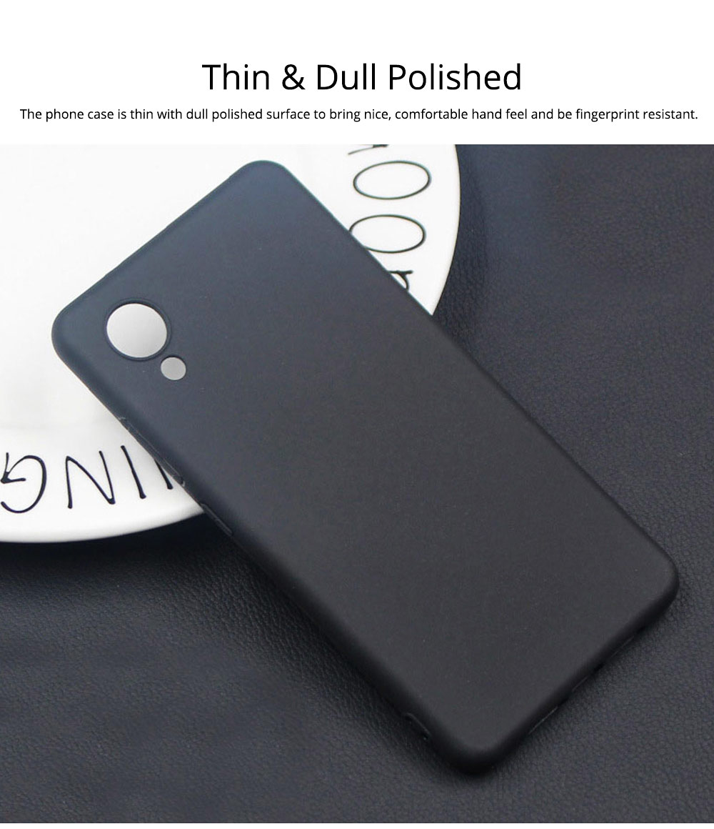 Phone Case for Sharp S3, Mini Polished Back Protective Cover, Mobile Phone Shell Cover Cell Phone Case 1mm Thin 2
