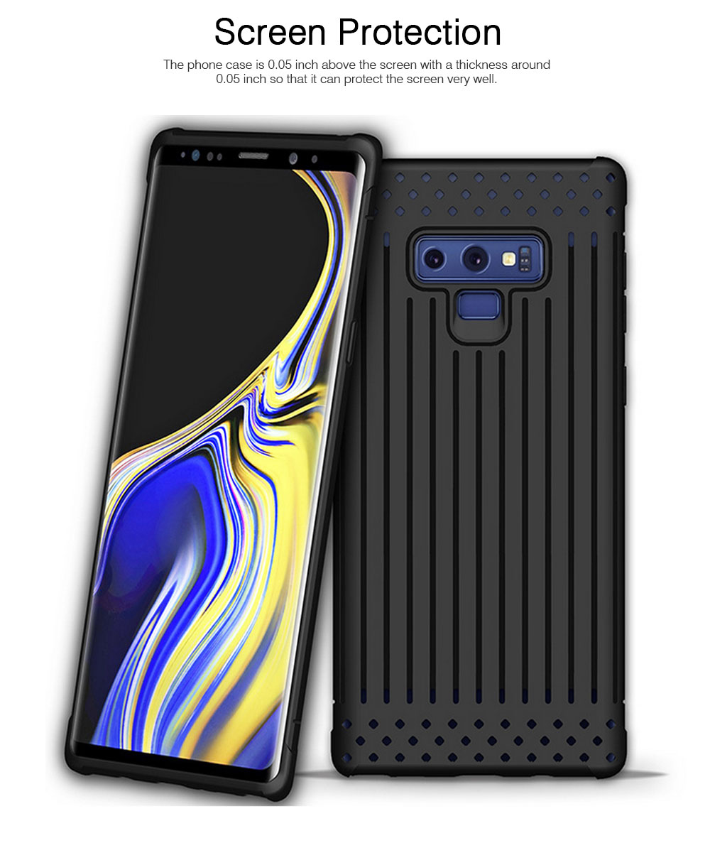 Transparent Phone Case for Galaxy Note 9, Soft Silicone Phone Protective Case Shell, Anti-smash Shockproof Cover 2