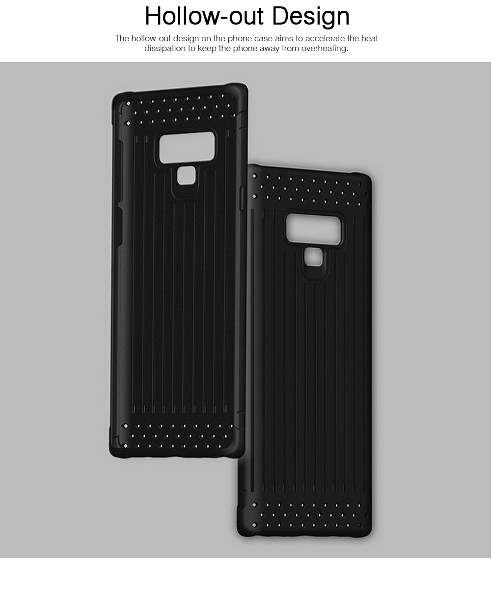 Transparent Phone Case for Galaxy Note 9, Soft Silicone Phone Protective Case Shell, Anti-smash Shockproof Cover 4