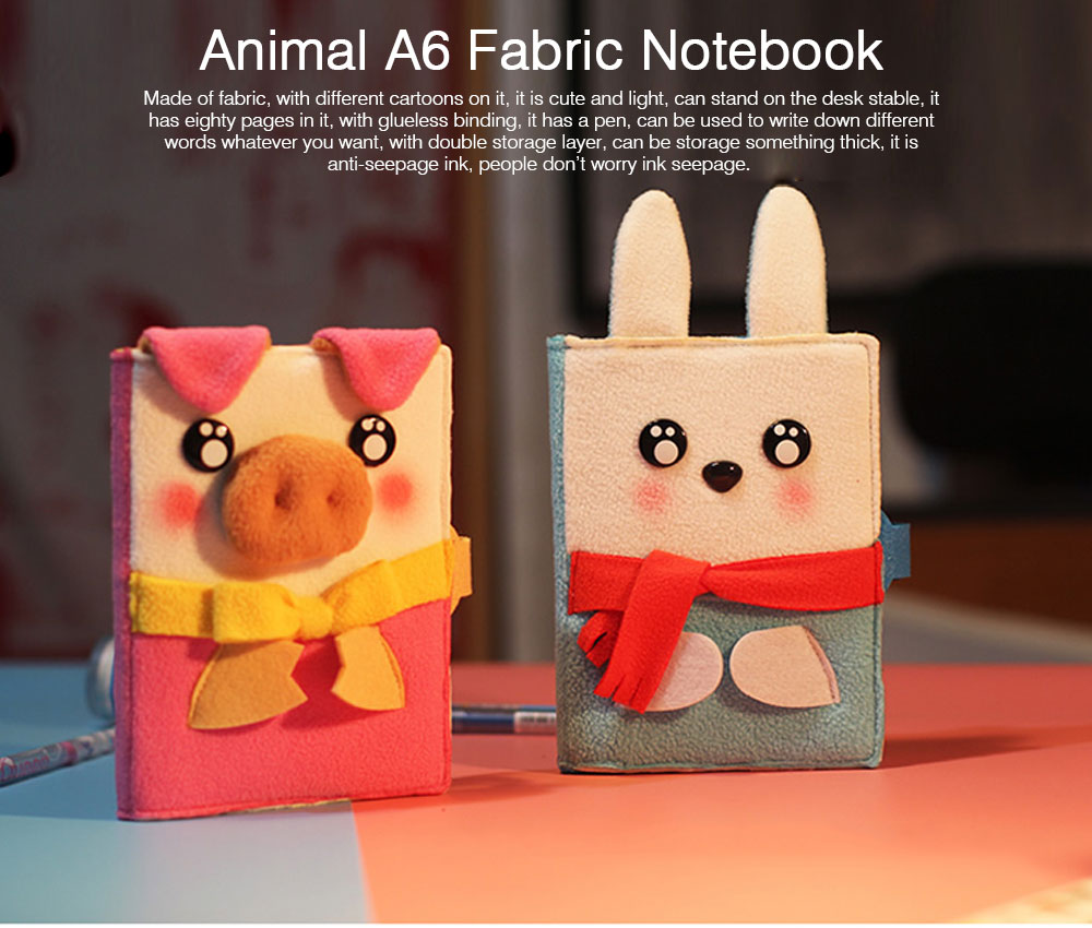 2019 Pet Animal Cover Notepads for Notebooks, Stationery Creative Korean Cartoon Notbook Cover with Pen Holder 0