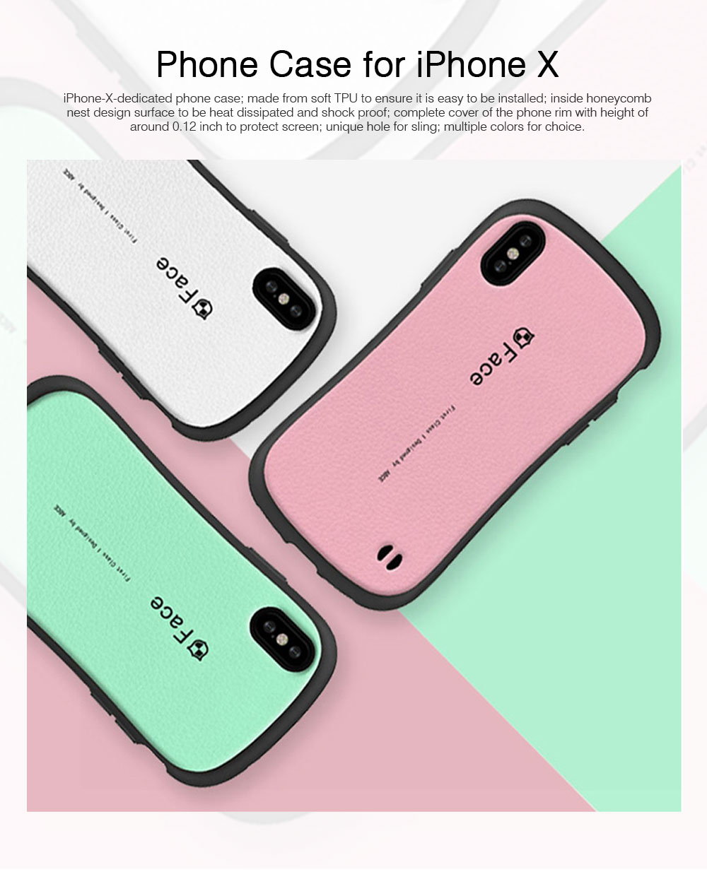 Original iface Mall Phone Case for iPhone X, Silicone Hard Strong Protective Phone Shell, Back Cover for iPhone X, iPhone 10 Slim Fit Shockproof 0