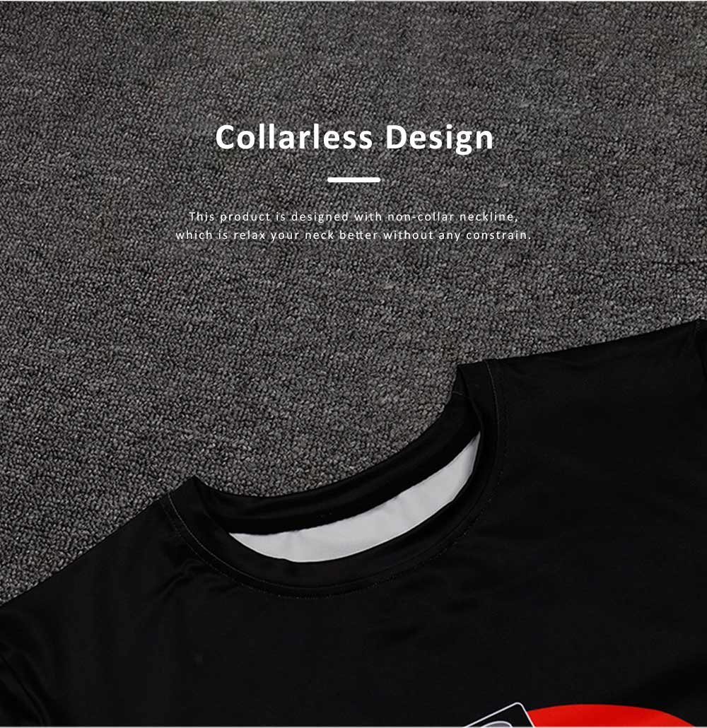 2019 Summer Casual T-shirt for Men, Fashionable European Collarless Style Large Size Short Sleeve Tees 2
